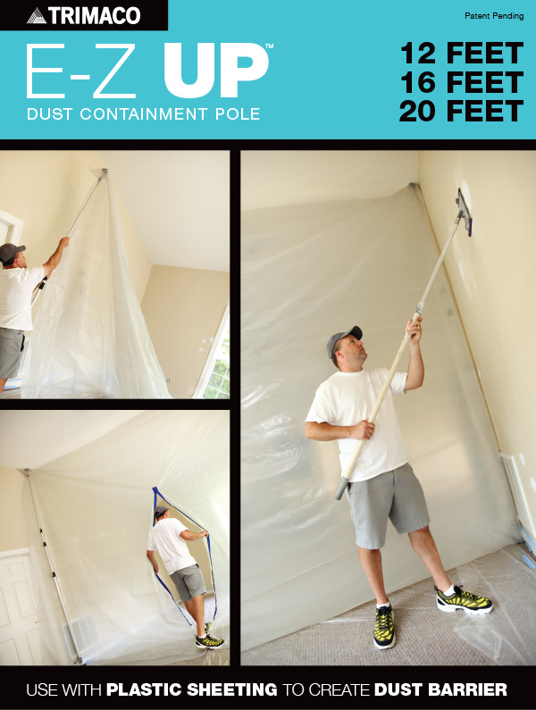 E-Z Up Dust Containment Poles