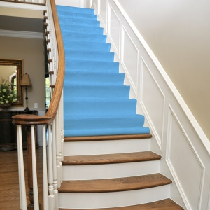 stay put surface protector on stairs