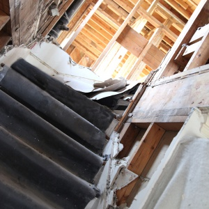 supertuff surface protector on stairs