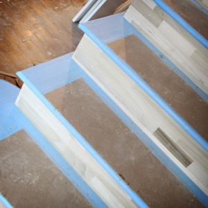 x-paper flooring protection on stairs