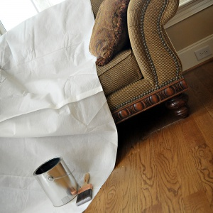 double guard drop cloth on couch