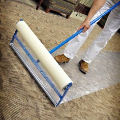 carpet protector film and applicator