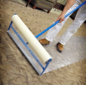 Adjustable Protective Flooring Film Applicator Image 2