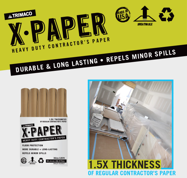 New X-Paper: Heavy Duty Surface & Floor Protection