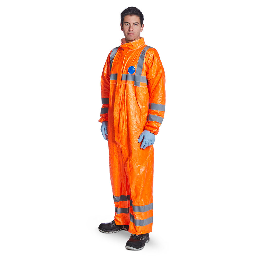 Orange DuPont™ Tyvek® 500 High Visibility Coveralls Image 1